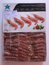 Королевские креветки лангустины L3  30, 40 штук на кг