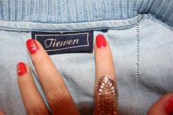 стильный джинсовый пиджак, куртка, на кнопках