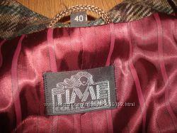 тёплый стильный женский пиджак, блейзер, карманы, 40размер