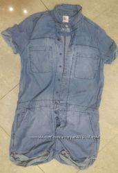 летний джинсовый комбинезон, ромпер, лёгкий деним, шорты