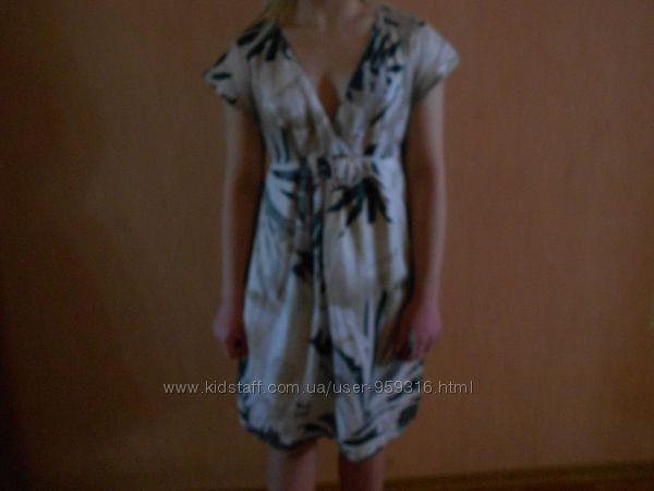 летнее батистовое платье, S, M, наш 44, 46, свободное, красивое