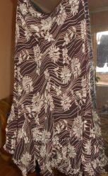 Красивая шифоновая длинная юбка. UK 14. Бренд Mark&Spenser. Наш 48, 50, 52
