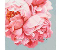 Картина по номерам Роспись на холсте Роскошные пионы цветы тюльпаны