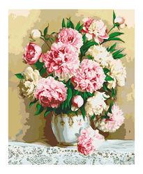 Картина по номерам Нежно розовые пионы КНО2032 и другие