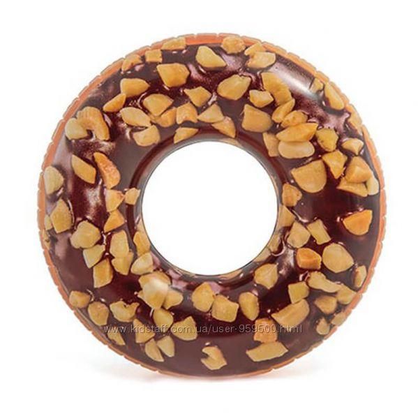 Надувной Круг Пончик Шоколад Карамель Intex Интекс 114 и 107см