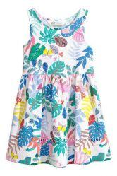 Летнее Платье сарафан HM хлопок 100 разные расцветки 92, 104, 116, 128