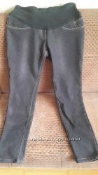 джинсы для беременных утеплённые, стрейчевые