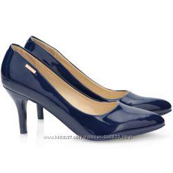 Лаковые туфли-шпильки на среднем каблуке 5 цветов