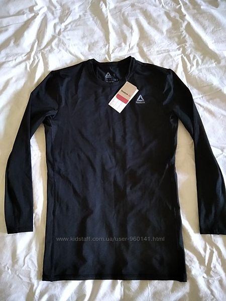 Компрессионная футболка с длин. рукавом Reebok WOR COMPR LO SLEEVE BLACK