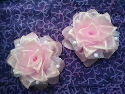 Банты розовые, D 20см, идеальные