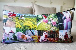 Подушка с вашими фото р. 40х60 см.