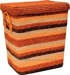 Плетенная корзина для игрушек и белья