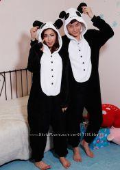 Кигуруми панда теплая пижама kigurumi К008