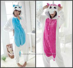 Кигуруми единорог теплая пижама kigurumi костюм косплей К002