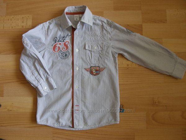 Рубашка C&A на рост 110 бу