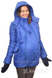 Зимняя куртка для беременных и слингоношения 4в1, королевский синий