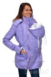 Зимняя куртка для беременных и слингоношения 4в1, сиреневая