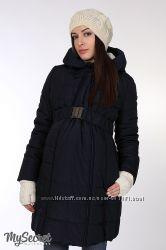Теплая куртка для беременных, синяя