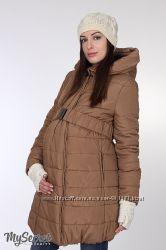 Куртка зимняя для беременных, песочная