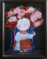 Картина маслом Гапчинская Хлебушек с салом