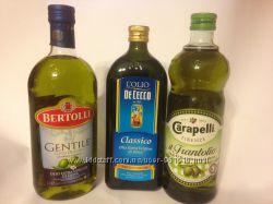 Свіжа олія оливкова Bertolli, Carapelli, De Cecco extra vergine Італія