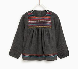 Нова блуза Zara р. 86, на 12-18 міс.