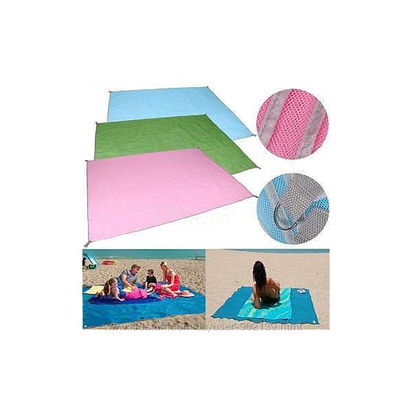 Пляжный коврик  подстилка Анти песок 200 на 200 см.