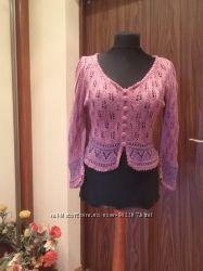 &nbspВискозная ажурная блуза оригинального фасона, авторская работа, 48 укр