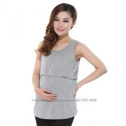 Майка для кормления футболка майки футболки серый черный цвет мам