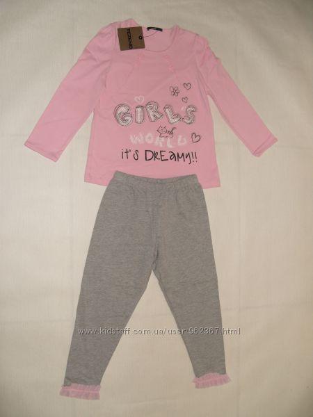 Трикотажні дівчачі піжами на 2-3 роки  100 котон. Tezenis