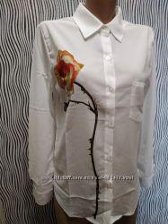 Блуза с принтом Роза все размеры в наличии