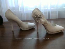 Свадебные белые туфли НЕДОРОГО