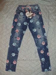 Лосины леггинсы под джинс для девочек 116-128 p. p.