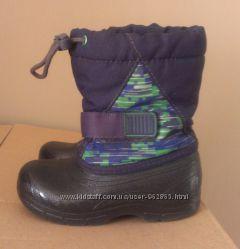 качественные сноубутсы термо-ботинки сапожки, 16см по стельке