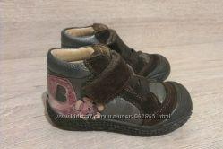шикарные кожаные туфельки, Франция, р. 22, 13, 5см