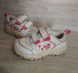 16, 5см, кожаные кроссовки для девочки