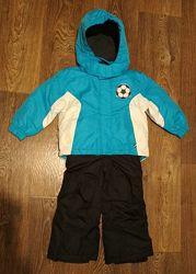 р. 86-92, новый раздельный зимний термо-комбинезон Германия куртка и штаны