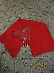 Шарфик, перчатки