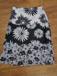 летняя юбка Benetton. длина Миди, С-ка