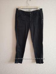 Штаны, брюки, черные, зауженные, классика, mango
