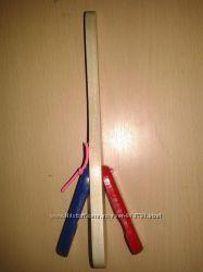Кастаньеты на ручке, Ложка деревянная с двусторонними лепестками