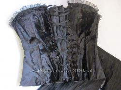 Корсет из бархата и атласа, индивидуальный пошив