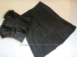 Клешеная юбка-миди BGN в рельефную полоску