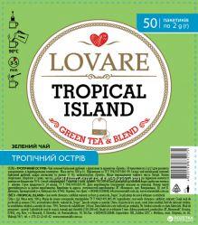 Чай зеленый китайский с фруктами и ароматом Тропик Lovare Тропический остро