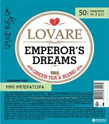 Смесь чорного и зеленого чая Lovare рассвет княжны пакетированный 50х1. 5 г