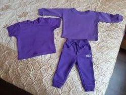 Набор,  коплект реглан,  футболка и штанишки 74-80,  9м. -12мес.