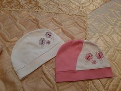 Демисезонные,  летние,  тоненькие шапочки от 6 месдо 1,5 лет