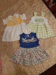 Летние платья от 6 мес. до 1, 5 лет для малышки