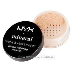 минеральная финишная рассыпчата  пудра Nyx mineral  matte finishing