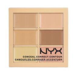 Палитра корректоров NYX conceal, correct, contour palette
